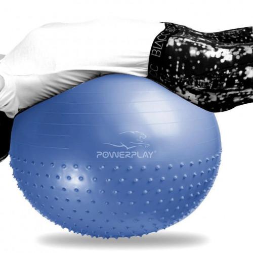 Мяч массажер для Фитнеса (Фитбол) полу-массажный 65 см - Фото 4