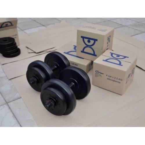 Разборные гантели 2 по 8 кг с пластиковым покрытием - Фото 6