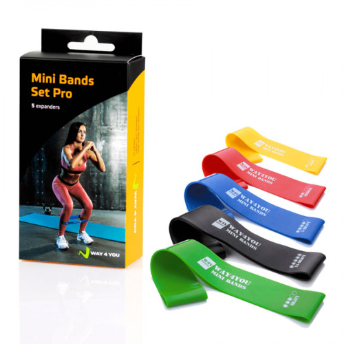 Набор эспандеров для ног W4Y Mini Bands 5 шт. - Фото