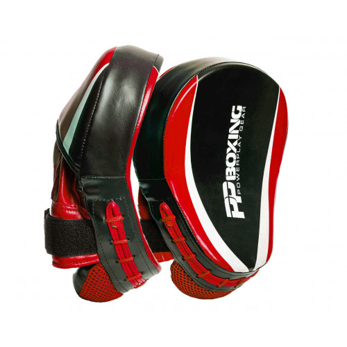 Лапы боксерские PowerPlay Boxing Black-Red - Фото