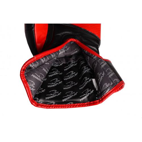 Перчатки для бокса PowerPlay Pro Fight Black - Фото 4