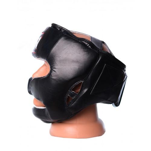 Шлем боксерский тренировочный PowerPlay Black Nubuk - Фото 7