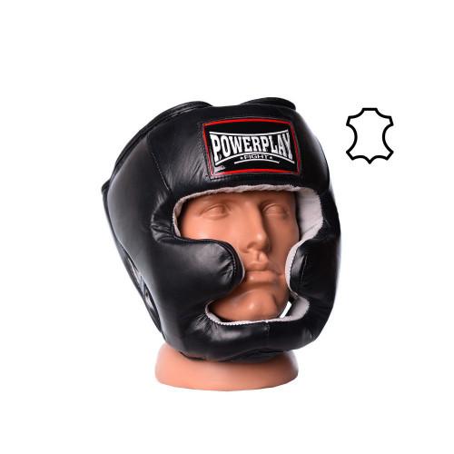 Шлем боксерский тренировочный PowerPlay Black Nubuk - Фото