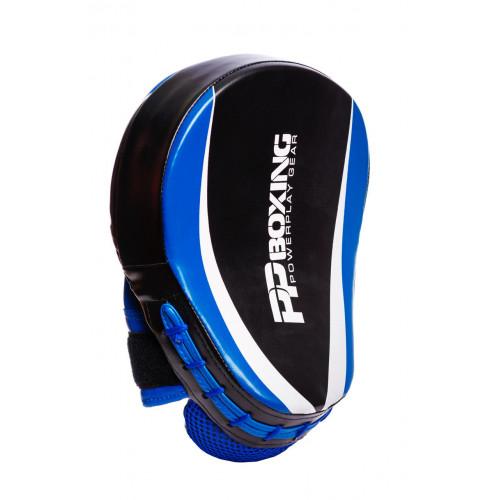 Лапы боксерские PowerPlay Boxing Black-Blue - Фото 2