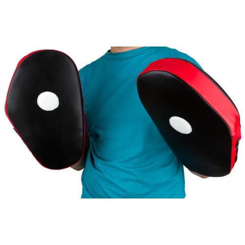 Лапы боксерские PowerPlay Fight Black-Red - Фото 6