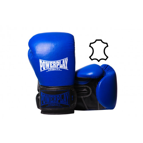 Перчатки для бокса PowerPlay Classic Blue - Фото