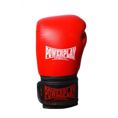 Перчатки для бокса PowerPlay Classic Red - Фото 4