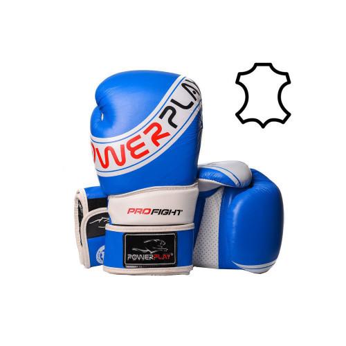 Перчатки для бокса PowerPlay Pro Fight Blue - Фото
