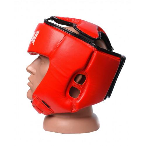 Шлем боксерский PowerPlay Tournament Red - Фото 3