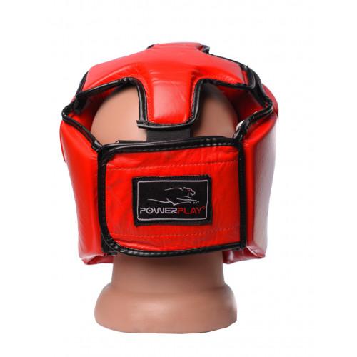 Шлем боксерский PowerPlay Tournament Red - Фото 4