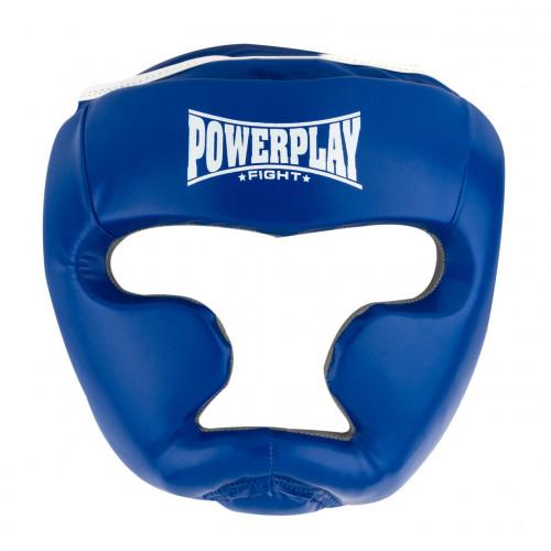 Шлем боксерский тренировочный PowerPlay Blue Amara - Фото 4