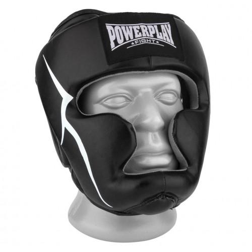 Шлем боксерский тренировочный PowerPlay Black - Фото