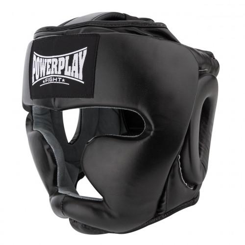 Шлем боксерский тренировочный PowerPlay Black - Фото 2