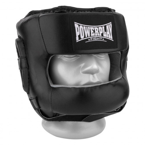 Шлем боксерский тренировочный PowerPlay Bamper Black - Фото