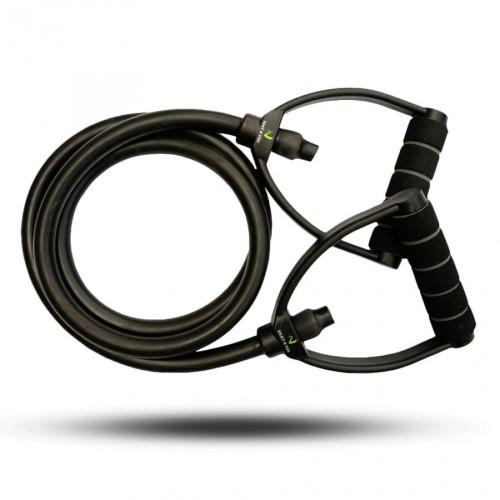 Универсальный Эспандер жгут с ручками 16-23 кг (черный) - Фото