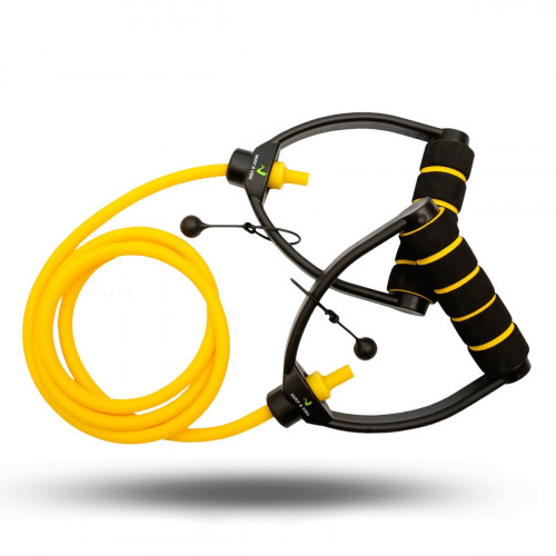 Универсальный Эспандер жгут с ручками 2-5 кг (желтый) - Фото