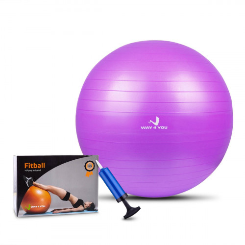 Мяч для Фитнеса (Фитбол) 65 см фиолетовый - Фото