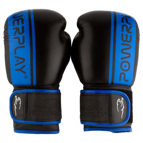 Перчатки для бокса PowerPlay Black-Blue - Фото 2