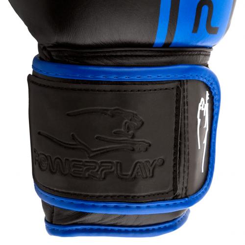 Перчатки для бокса PowerPlay Black-Blue - Фото 7