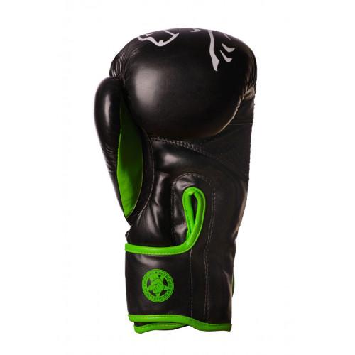 Перчатки боксерские PowerPlay 3018 Black-Green - Фото 4