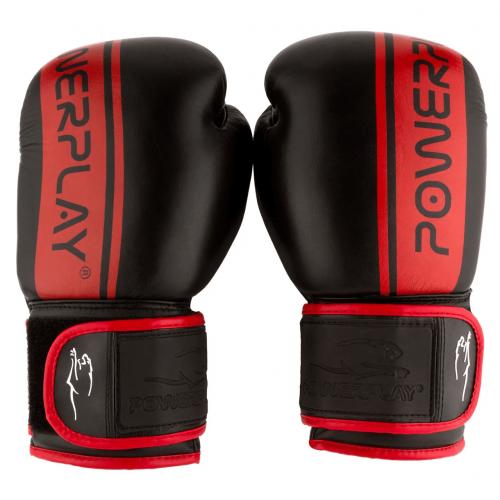 Перчатки для бокса PowerPlay Black-Red - Фото 2