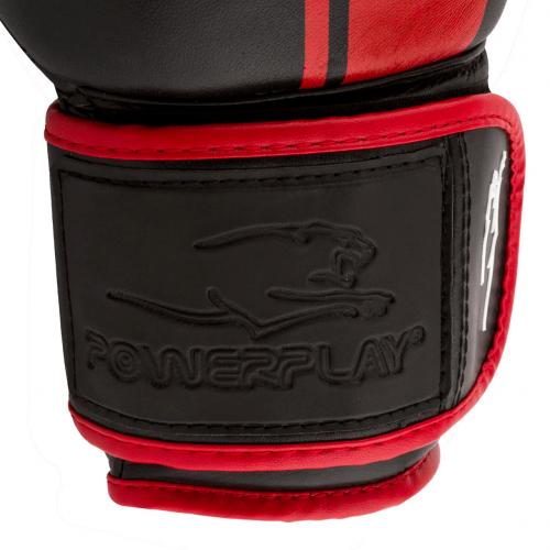 Перчатки для бокса PowerPlay Black-Red - Фото 7