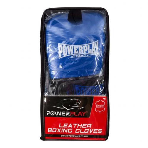 Перчатки для бокса PowerPlay Classic Blue - Фото 8