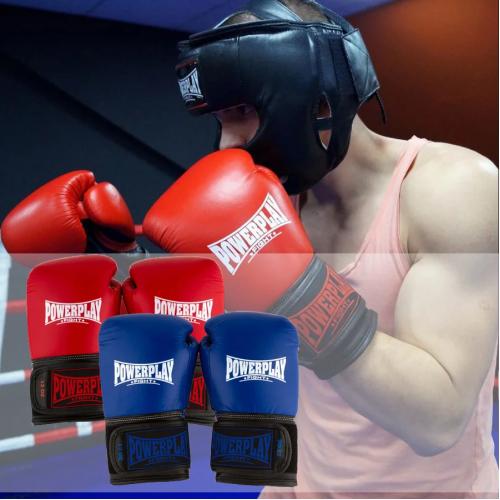Перчатки для бокса PowerPlay Classic Red - Фото 9