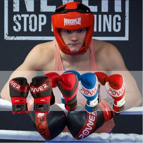 Перчатки для бокса PowerPlay Pro Fight Red  - Фото 10