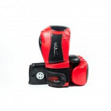 Перчатки для бокса PowerPlay Black-Red (кожа+PU)
