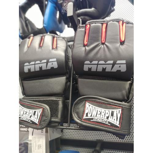 Перчатки для ММА PowerPlay Black - Фото 7