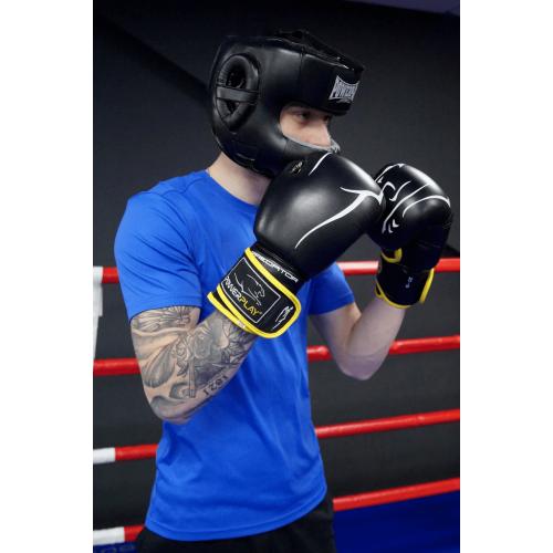 Шлем боксерский тренировочный PowerPlay Bamper Black - Фото 8