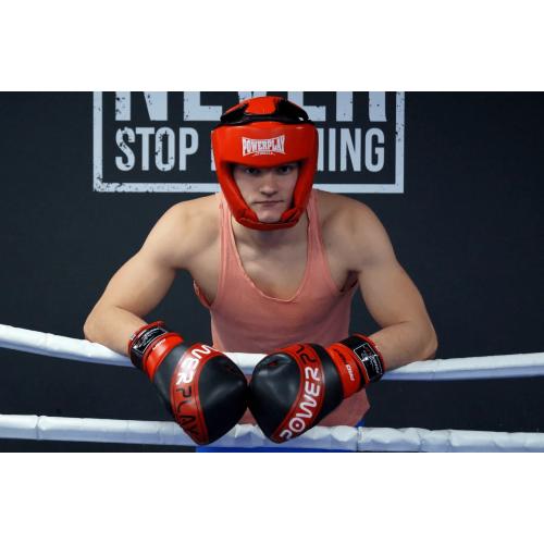 Шлем боксерский PowerPlay Tournament Red - Фото 6