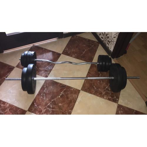 Штанга композитная 75 кг с ABS покрытием - Фото 7